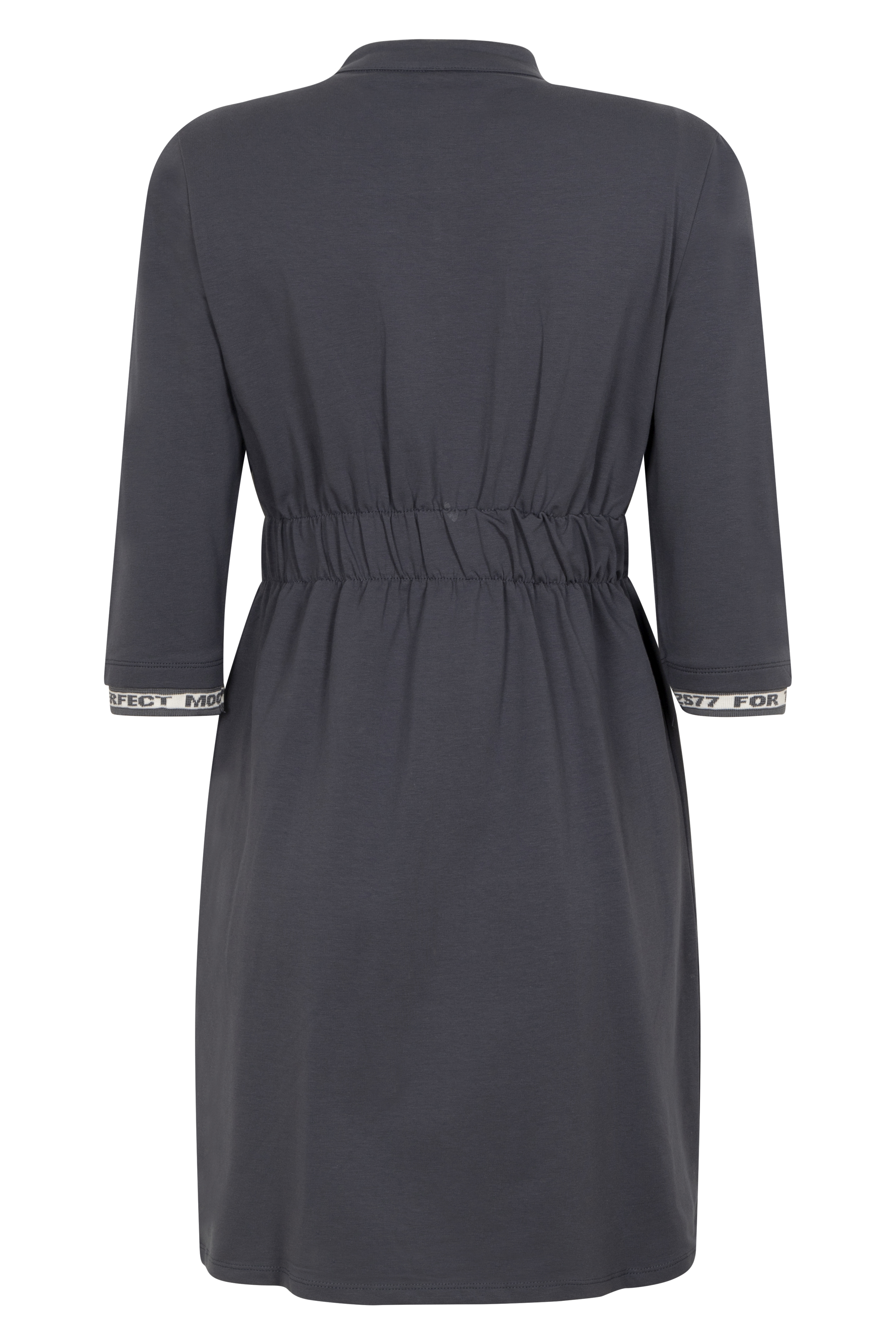 Dress with patch shadow blue