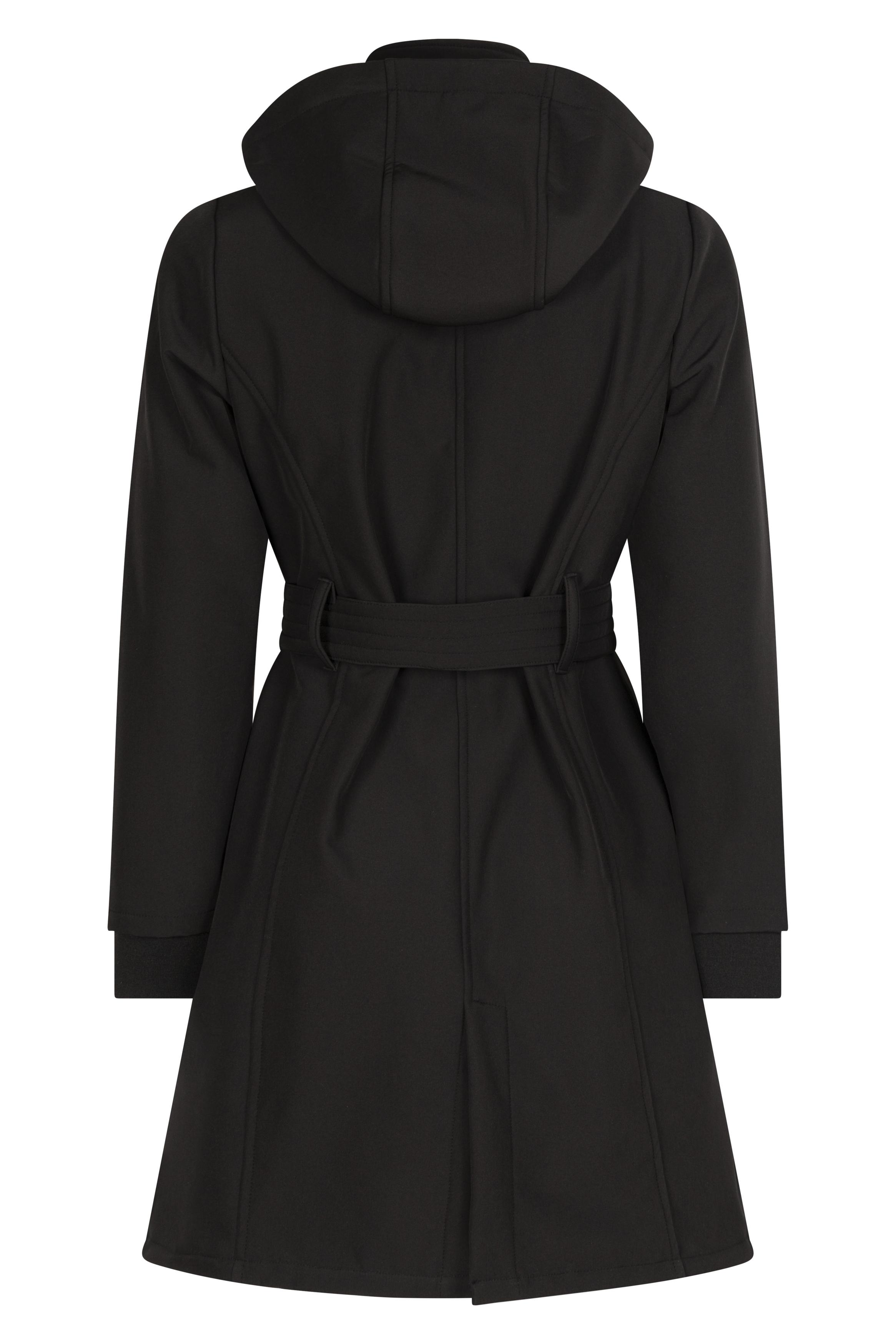 Softshell trenchcoat black