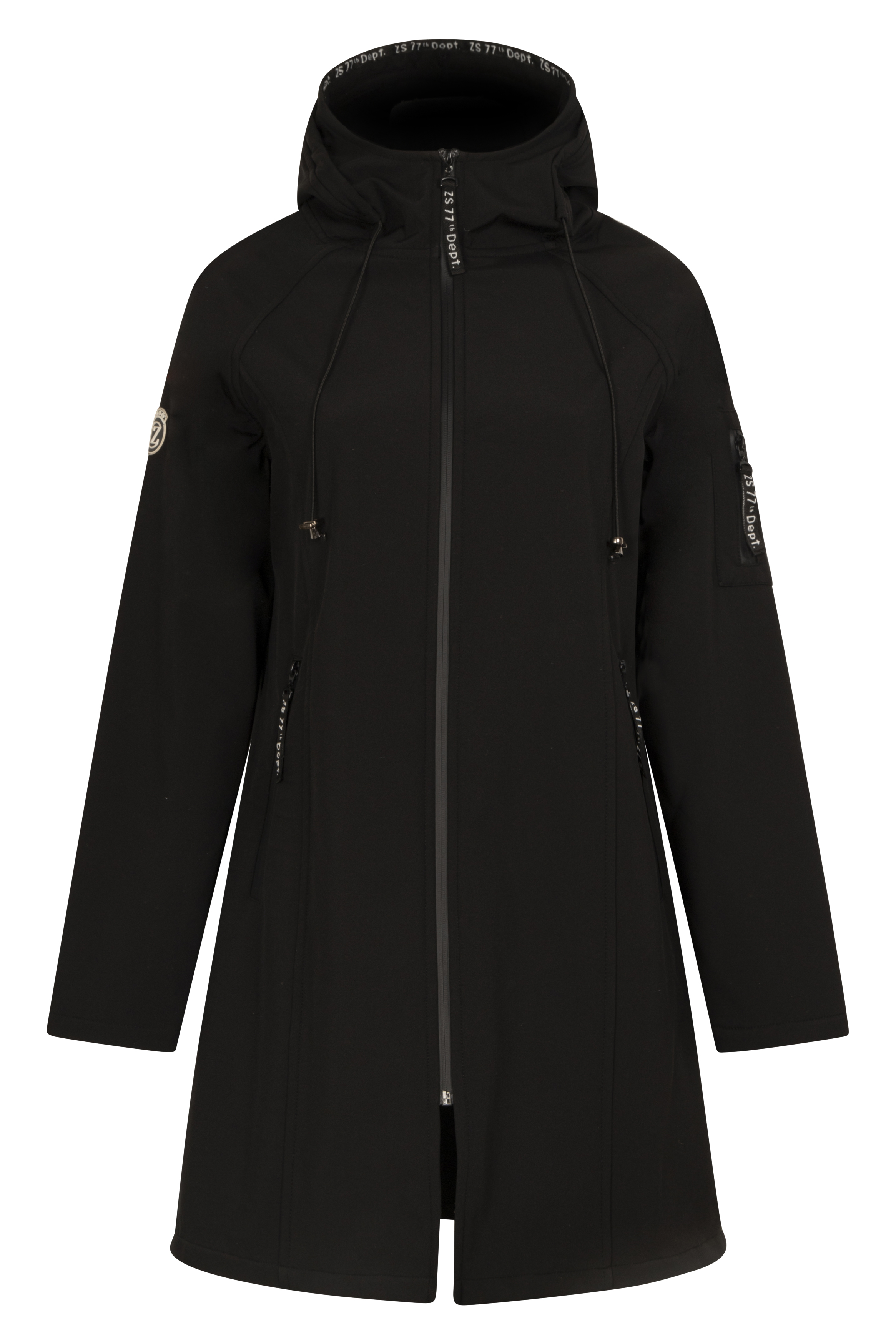 Softshell coat black