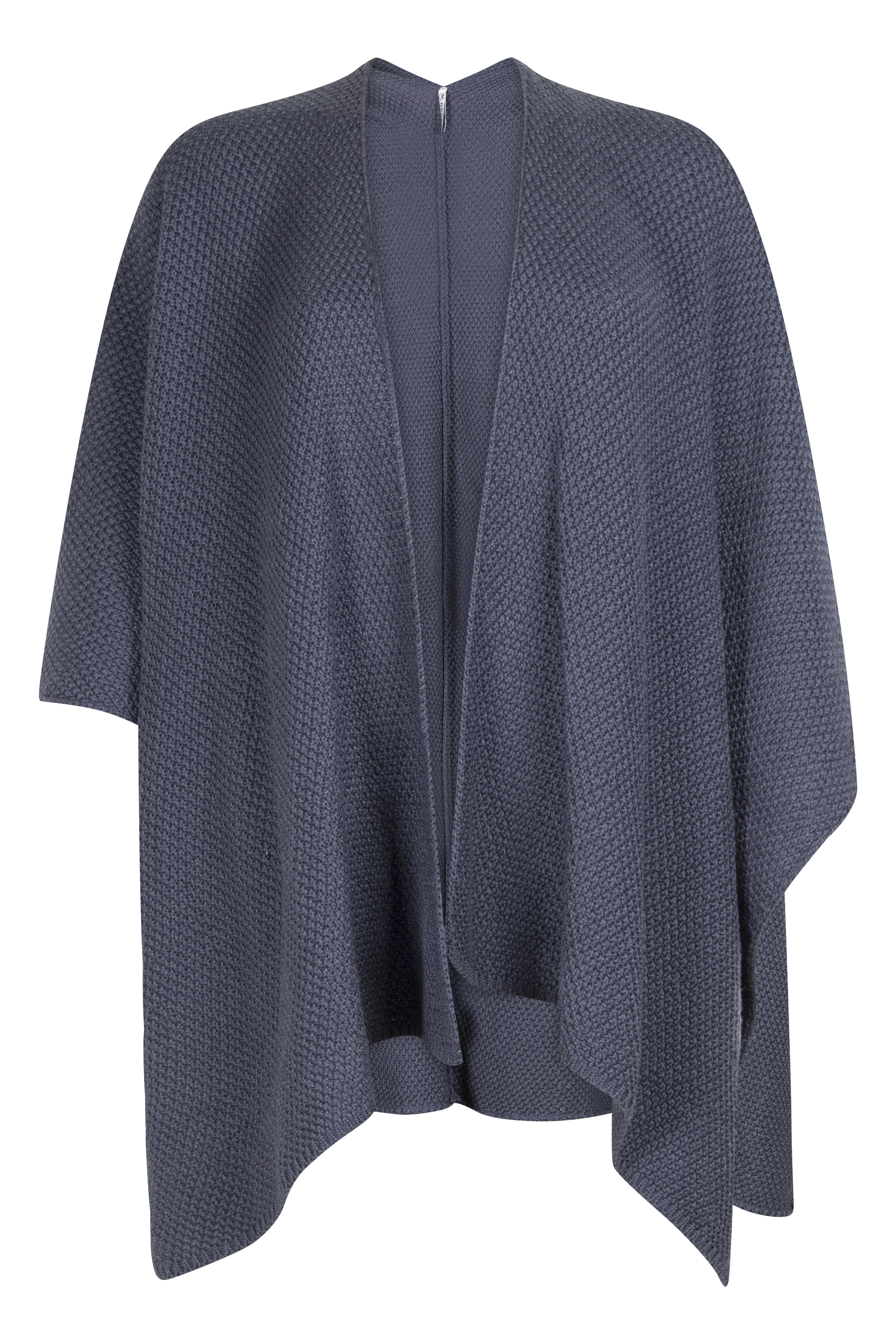 Knitted poncho shadow blue