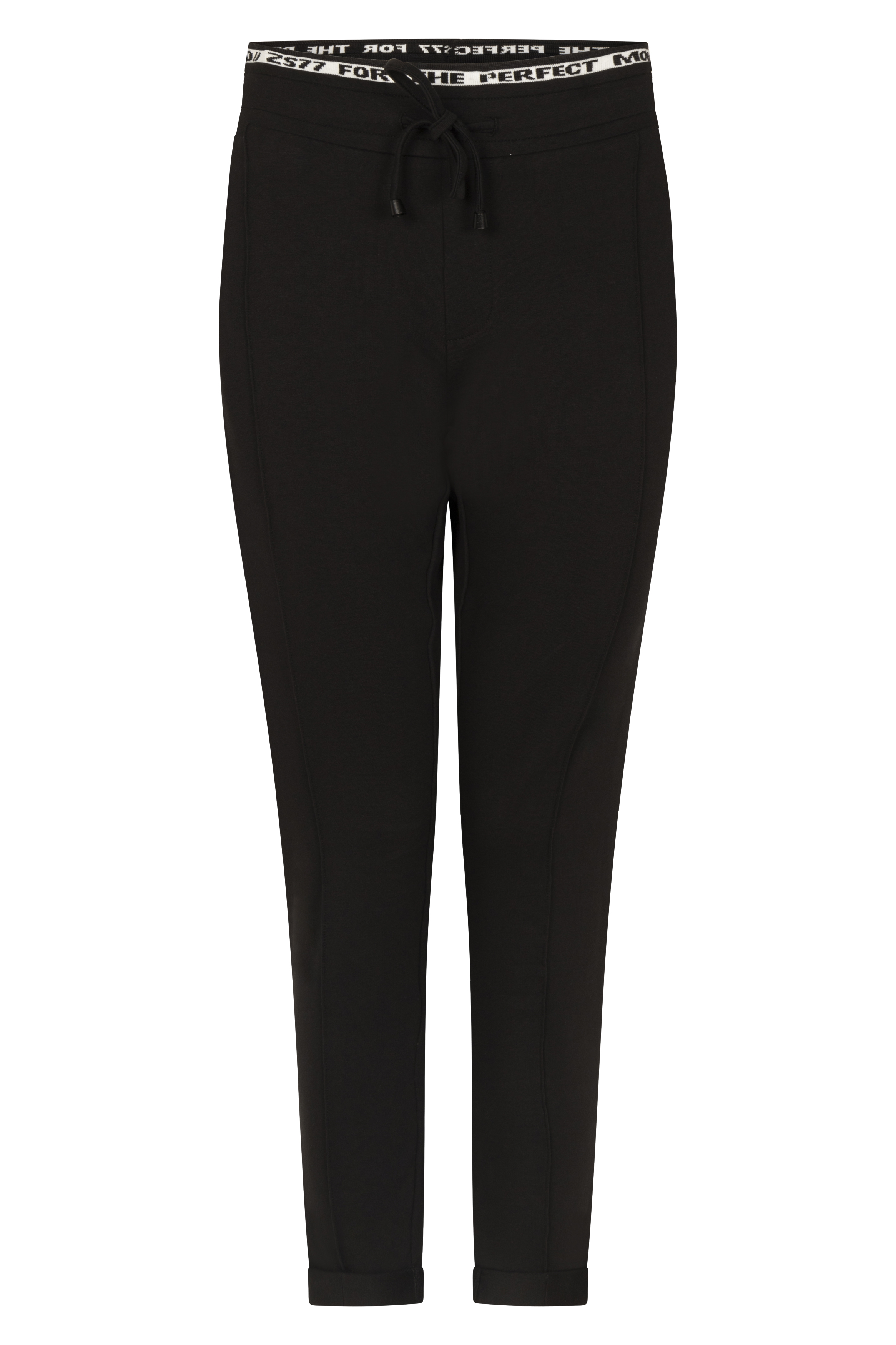Sporty trouser with tricoband black